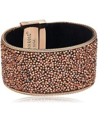 Kenneth Cole - Rose Gold Items Rose Gold Statement With Blush Sprinkle Stone Bracelet - Lyst