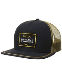 b9cc32e28ffa2 Lyst - RVCA Billboard Trucker Hat in Red for Men