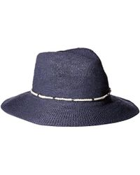 Vince Camuto - Metal And Rope Banded Packable Panama Hat - Lyst 9ad88ff1f3fb