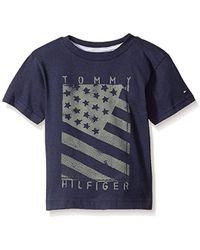 Hilfiger Denim - Tommy Hilfiger Toddler Boys' Little Neg Flag Tee, Swim Navy, 2t - Lyst