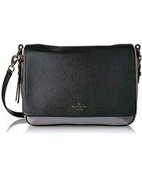 0a3f3cba987 Lyst - Kate Spade Cobble Hill Mayra Leather Crossbody in Black