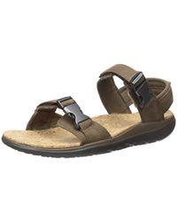83b9ab086b4b Lyst - Teva Terra-float Universal Lux Leather Sandal in Black for ...