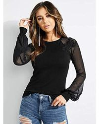 Guess - Long Sleeve Soutache Mesh Holly Sweater - Lyst