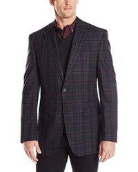 Perry Ellis - Slim Fit Plaid Cotton Sport Coat - Lyst