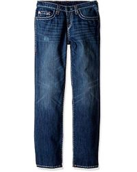 True Religion - Boys' Ricky Contrast Super T Jeans, Oxford Blue, 10 - Lyst