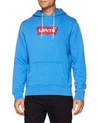 Levi's - Modern Logo Hoodie Blue - Lyst
