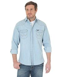 bc8ac73f2fa Wrangler - Big   Tall Cowboy Cut Western Long Sleeve Snap Workshirt - Lyst