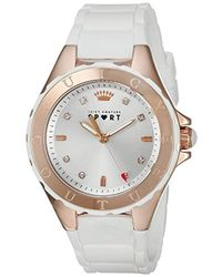 Juicy Couture - 1901415 Rio Analog Display Japanese Quartz White Watch - Lyst