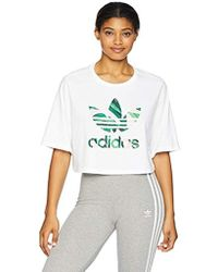 cc313131 Lyst - adidas Originals Girls' Farm Infill T-shirt Infant in White