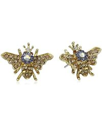 "Betsey Johnson - ""queen Bee"" Stud Earrings - Lyst"