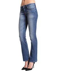 Mavi - Jeans Ashley Petite Mid Rise Bootcut - Lyst