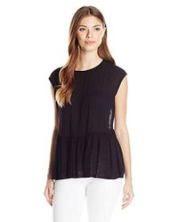 83245b25d2f4f Lyst - Bcbgeneration Lace-back Boxy Top in White