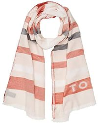 Tommy Hilfiger - Natural Scarf, Red (orange Mix 902), One (size: Os) - Lyst
