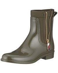 ed04b8e25e450 Tommy Hilfiger - Material Mix Rain Boot Wellington Black - Lyst