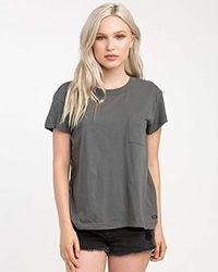 RVCA - Label Pocket T-shirt - Lyst