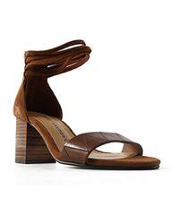9bdc5432b07e5e Lyst - Pour La Victoire Yvette Dress Sandal in Natural - Save ...