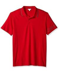 CALVIN KLEIN 205W39NYC - Short Polo With Printed Sleeve Logo - Lyst