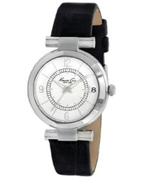Kenneth Cole - Kc8037 Classic Round Silver Dial Rose Gold Bezel Detailed Strap Watch - Lyst