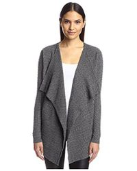 SOCIETY NEW YORK - Cable Cascade Cardigan - Lyst