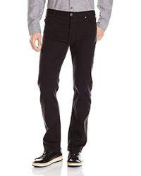 Armani Jeans - J21 Regular Straight Fit Bull Comfort Stretch Jeans, Black Denim - Lyst