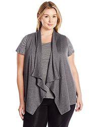 Calvin Klein - Performance Plus Size Zip Shawl Collar Vest - Lyst