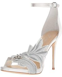 Imagine Vince Camuto Dayanara Satin Embroidery Stone Embellishment Ankle Strap Dress Sandals 4CCYBELft