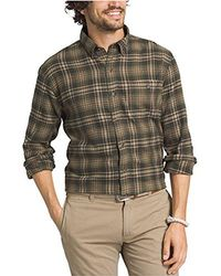 G.H.BASS - Big And Tall Fireside Flannel Plaid Long Sleeve Shirt - Lyst