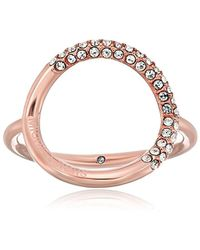 Michael Kors - Brilliance Banded Circle Ring - Lyst