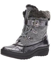 Anne Klein - Gallup Fabric Snow Shoe - Lyst