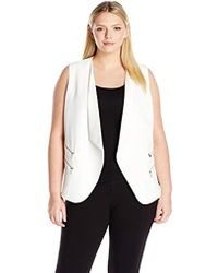 Calvin Klein - Plus-size Vest With Buckle Hardware - Lyst