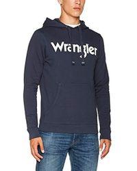 Wrangler - 's Logo Popover Hoodie Sweatshirt - Lyst