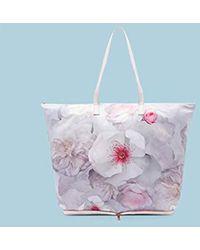 5b6bbaf1b Ted Baker Kimerly Chelsea Grey Fold Shopper Bag, Light Grey