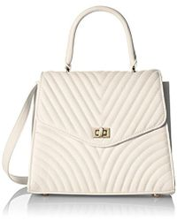 Steve Madden - Coco Ladies Top Handle Non Leather Satchel With Chevron Quilting - Lyst