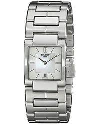 Tissot - Tist0903101111100 T2 Analog Display Swiss Quartz Silver Watch - Lyst