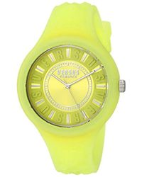 Versus - 'fire Island' Quartz Stainless Steel And Silicone Casual Watch, Color:yellow (model: Soq120017) - Lyst
