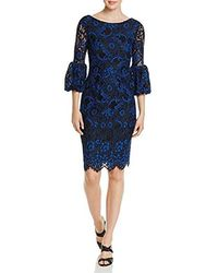 Laundry by Shelli Segal - Corded Lace Cocktail Dress With Puffy Sleeve - Lyst