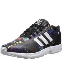 b03eef7a0 Lyst - adidas Originals Asymmetrical Zx Flux Sneakers In White ...