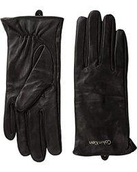Calvin Klein - Basic Leather Glove Accessory - Lyst