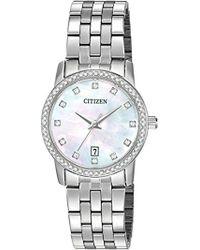 Citizen - Quartz Crystal Accent Watch With Date, Eu6030-56d - Lyst