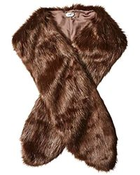 Badgley Mischka - Faux Mink Stole Shawl With Solid Lining - Lyst