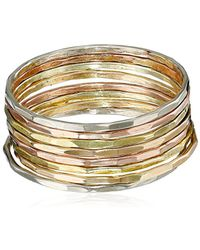 Melissa Joy Manning - Mjm Classic 14k Mixed Gold Stacking Rings, Size 7 - Lyst