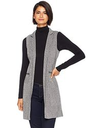 Calvin Klein - Glen Plaid Vest With Zippers - Lyst