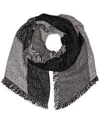 Levi's - Assymetrical Fringe Wrap Scarf (noir Regular Grey 55), One (manufacturer Size: Un) - Lyst