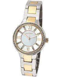 Ellen Tracy - Quartz Metal And Alloy Watch, Color:white (model: Et5189ttg) - Lyst