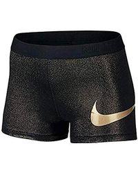 "Nike - S Pro Cool 3"" Sparkle Glitter Shorts - Lyst"