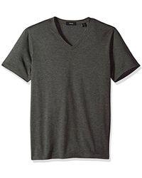 Theory - Claey V Plaito Dressy V Neck T-shirt - Lyst