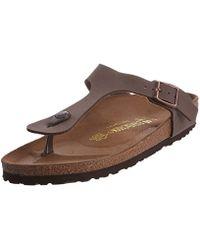 Birkenstock - Gizeh Brown S Sandals - Lyst