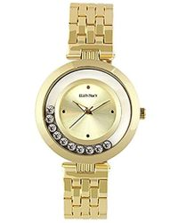 Ellen Tracy - Quartz Metal And Alloy Watch, Color Gold-toned (model: Et5199gd) - Lyst