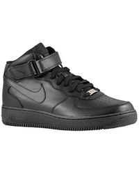 bbcf389d675 Nike Air Trainer 1 Mid Men s Shoes (trainers) In Black in Black for ...