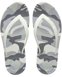 Fitflop - ''s Iqushion Camo Open Toe Sandals - Lyst